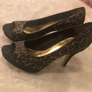 Nine West Shoes - Leopard heels with crystals